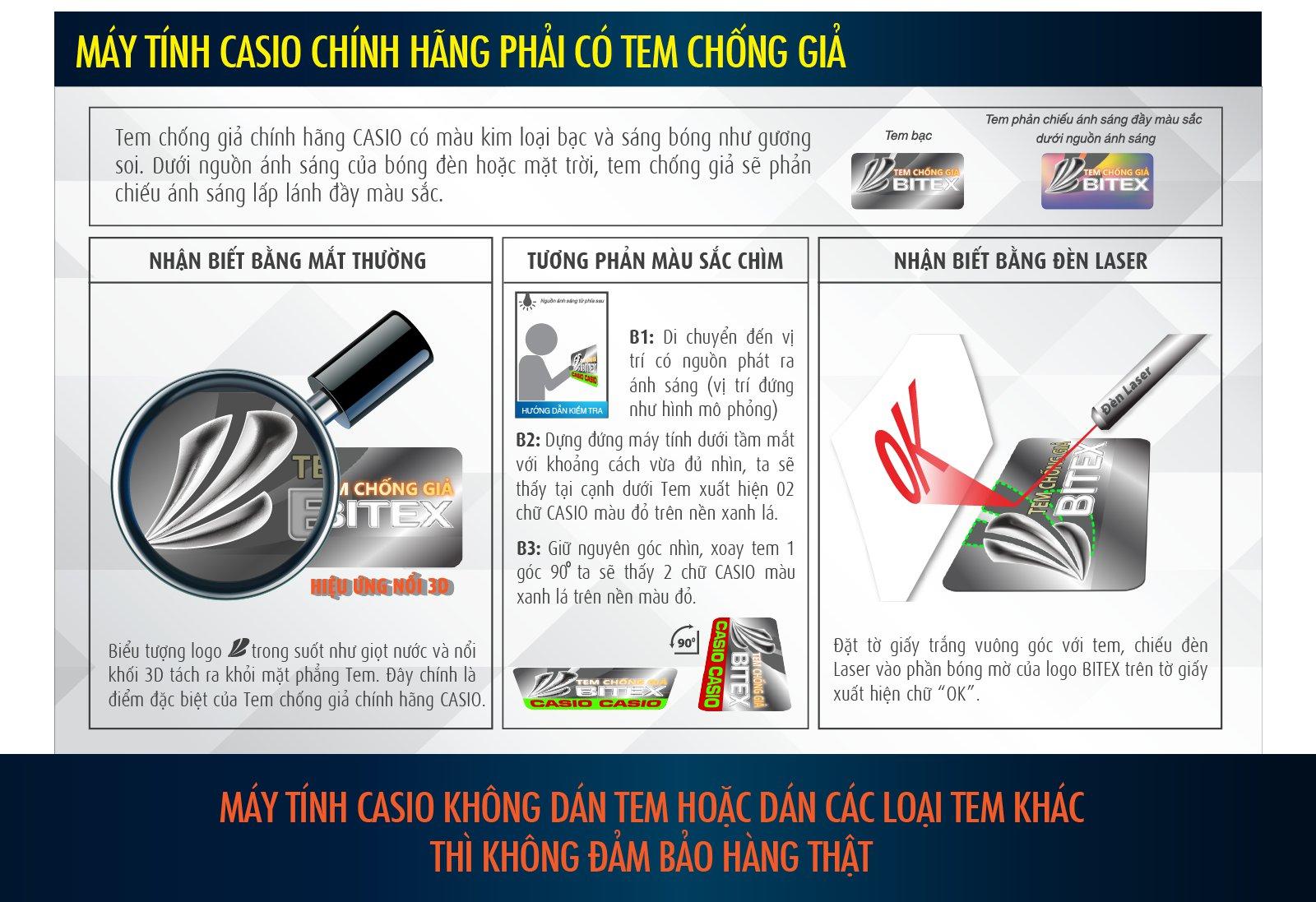 Cách kiểm tra máy tính Casio fx 580VNX - Ảnh 1