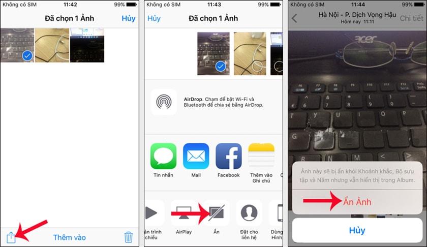 Cách ẩn album ảnh trên iPhone không cần phần mềm
