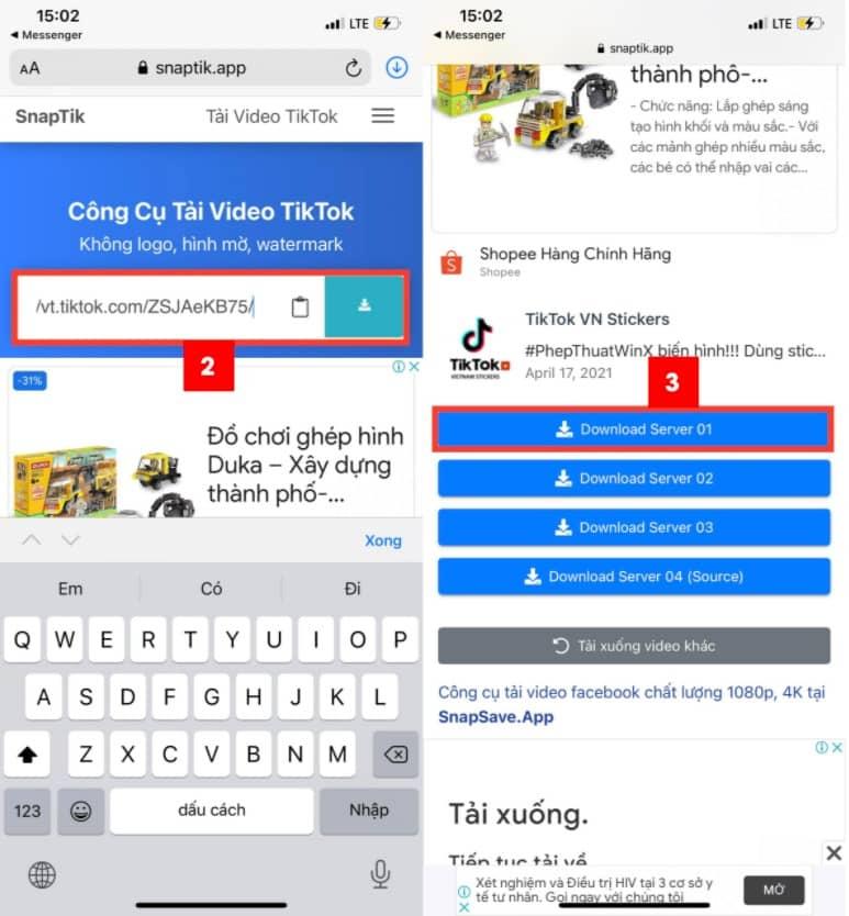 Tải video Douyin ko logo về máy Android, iPhone với SnapTik