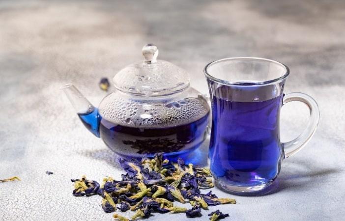 Những cách pha trà hoa đậu biếc giảm cân phổ biến